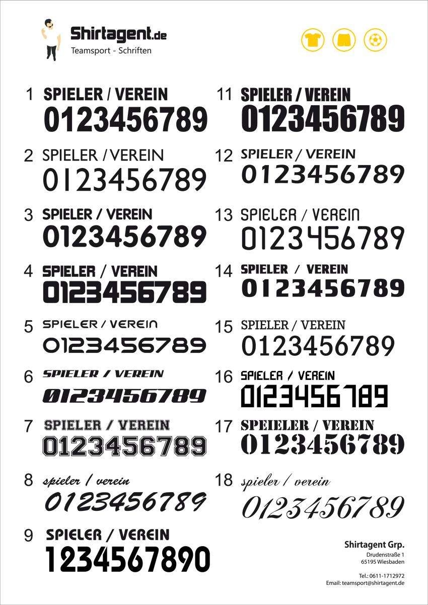 Trikot Nummern